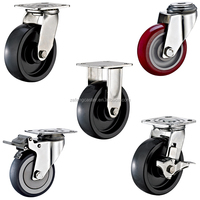 #304 Stainless Steel Casters with Derlin Bearing and Medium/Heavy Duty Wheel