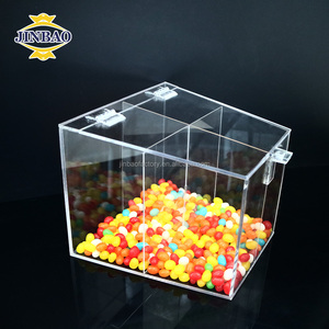JINBAO Transparent plastic cube package boxes clear acrylic candy boxes