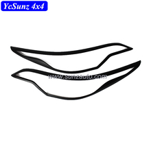 Matte black Head light cover for Fortuner 2016 Basic version ABS Front lamp cover 4X4 SUV parts