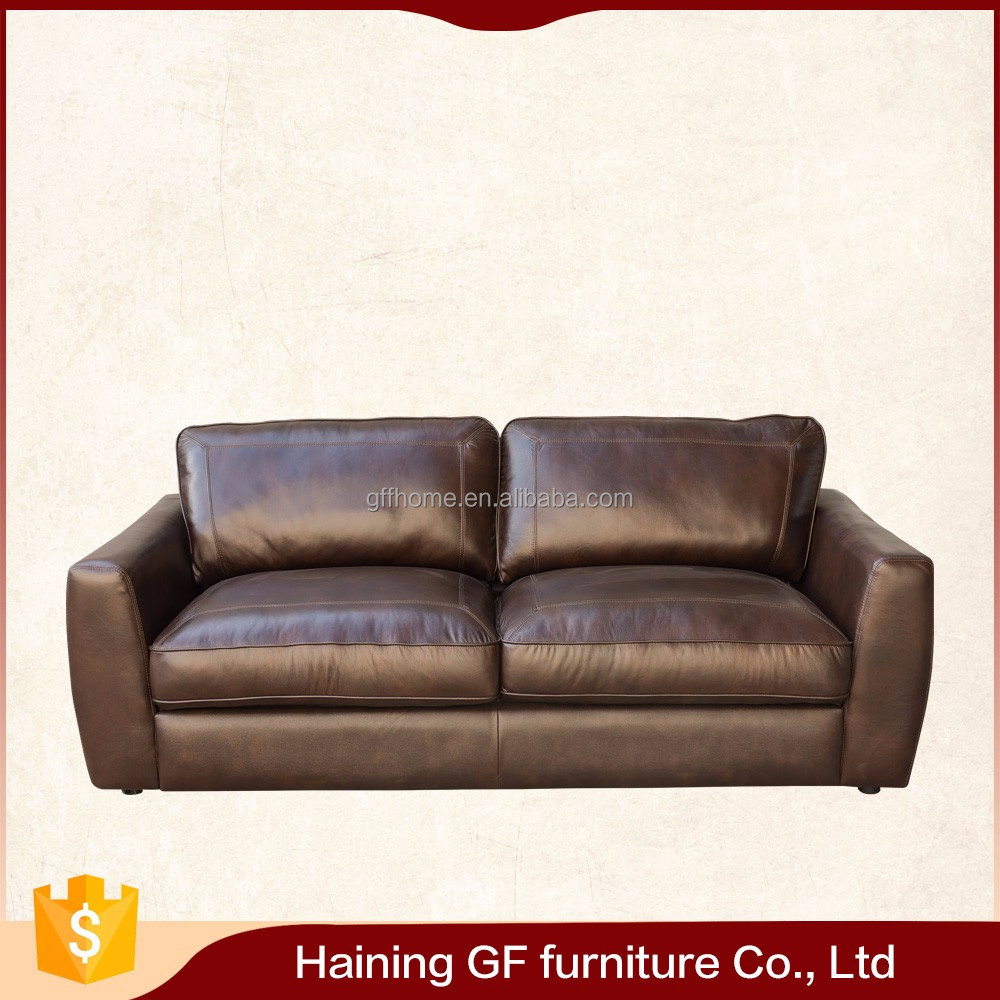 Factory bottom price modern genuine leather sofa with high quality