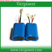 1S2P 3.7V 4400mah 18650 Li ion Rechargeable Battery Pack