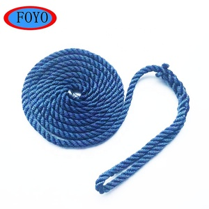China marine hardware boat twisted blue waterproof double braided polyester ropes with competitive price