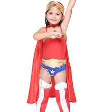 2017 Wholesale Halloween Children super hero girls customs