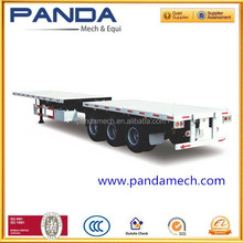 PANDA brand 3-axle 45ft extendable flatbed container semi trailer for transportation blades