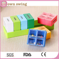 Deep Weekly 4 Compartments Per Day Pill Organizer/Plastic Storage Medicine Pill Box Case Container/Weekly Pill Organizer