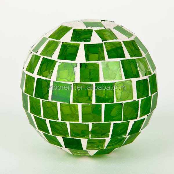 Hot colored decorative crackle glass mosaic balls for