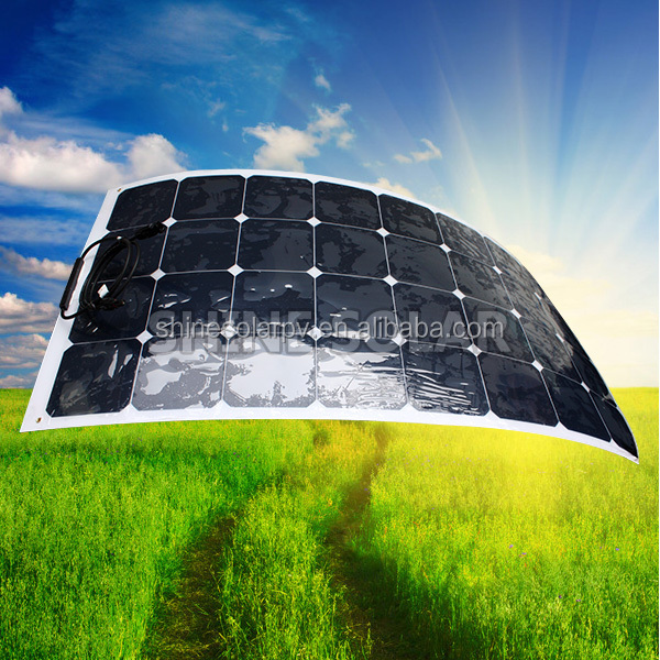 80W 100W 120W 130W 80W 120W 200W sunpower semi flexible solar panel