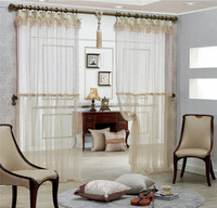 Latest designs hollow voile 3d curtains for the living room