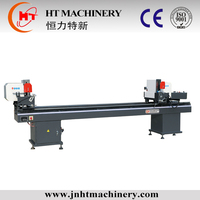 Popular machines 2015/double-head cutting saw for processing windows and doors/angle cut 45 degree band saw machine