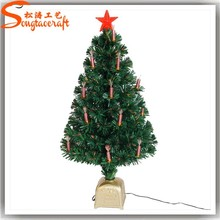 Guangzhou supplier wholesale artificial fake plastic led mini christmas tree ornament decoration for sale festival park