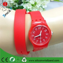 high quality silicone candy student sport watch,more discount cheap long band women watch