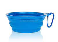 Travel Collapsible Dog Bowl Silicone Pet Expandable dish