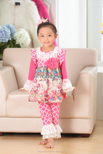 wholesale Hot sale frock design girls dress knit long sleeve baby dress for fall/spring floral clothing