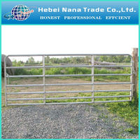 heavy duty galvanized steel cattle pipe corral fence panels