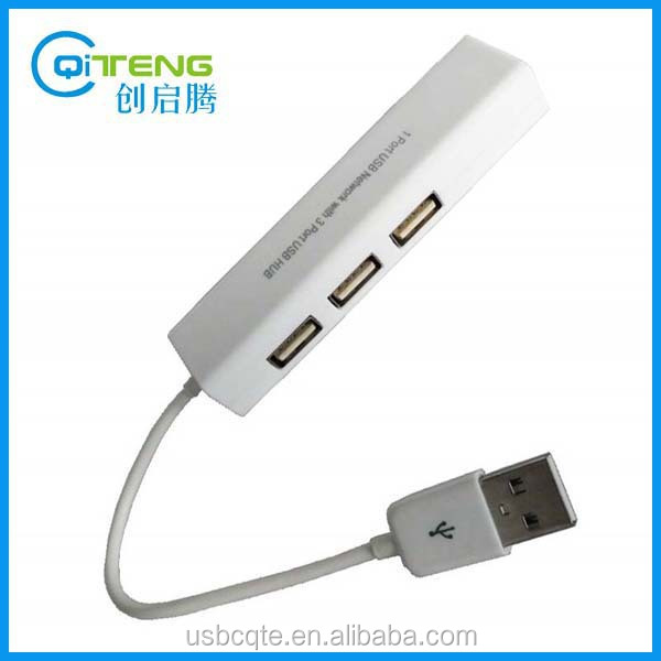 USB 2.0 3 Ports USB Hub With USB to Ethernet Adapter