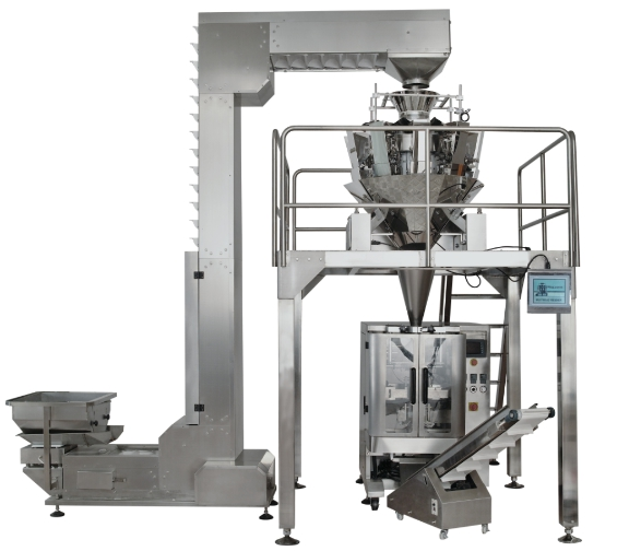 vertical weighting packaging machine combination for solid product
