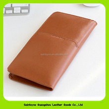 16398 Fashion Design Leather Passport Holder / Cover / Wallet / Case with 2 card slots and 1 pen position
