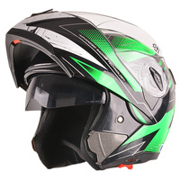 DOT approved motorcycles double visor flip up helmet with pattern