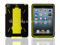 Hotsale! Cheapest cute silicone case for ipad mini back cover housing With 10 designs !!