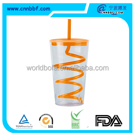 The best selling products creative colorful plastic disposable drinking straw cups