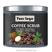 Hot koop Private Label Biologische Arabica Koffie Body Scrub