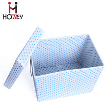Most Popular Foldable custom non woven fabric wholesale storage box with lid