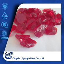 Tumbled Concrete Opaque Red Glass Aggregates