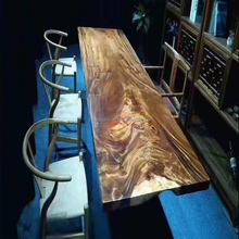 High Quality Teak Solid Wood Carved Dining Slab Table Top From Myanmar