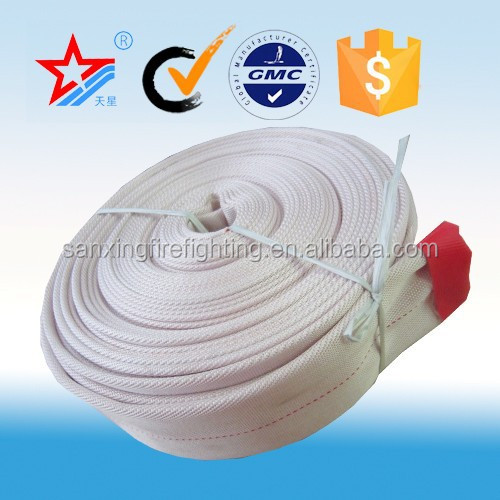 Flexible 250mm synthetic rubber or PVC lined canvas fire hose,fire nozzle in Sanxing Manufacturer