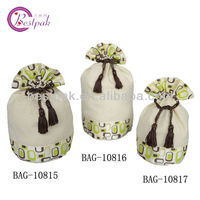 decorative cotton drawstring bag