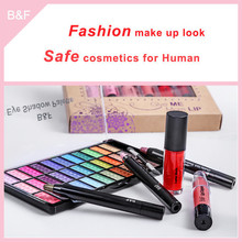 New arrival eyeshadow cosmetic set nail cosmetic pencil sets milk white comsetic brush kits