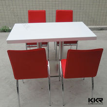 KKR custom made 4 seater dining table design,dining table set