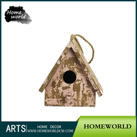 Cheap Retro Garden Decorative Small Wood Crafts Wooden Bird House