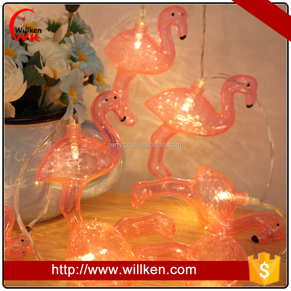 Plastic Pink Flamingo 10-Light Novelty String Light decoration
