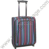 Multicolor Stripe Factory Price Polyester Luggage