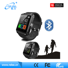 Topsale U8 smart watch bluetooth CE Andriod IOS phone LED smart watch