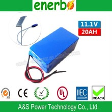 High Capacity 18650 Rechargeable Lithium Battery Pack 11.1V 20ah for Solar Street Light with CE, ROSH, UN38.3 Made in China