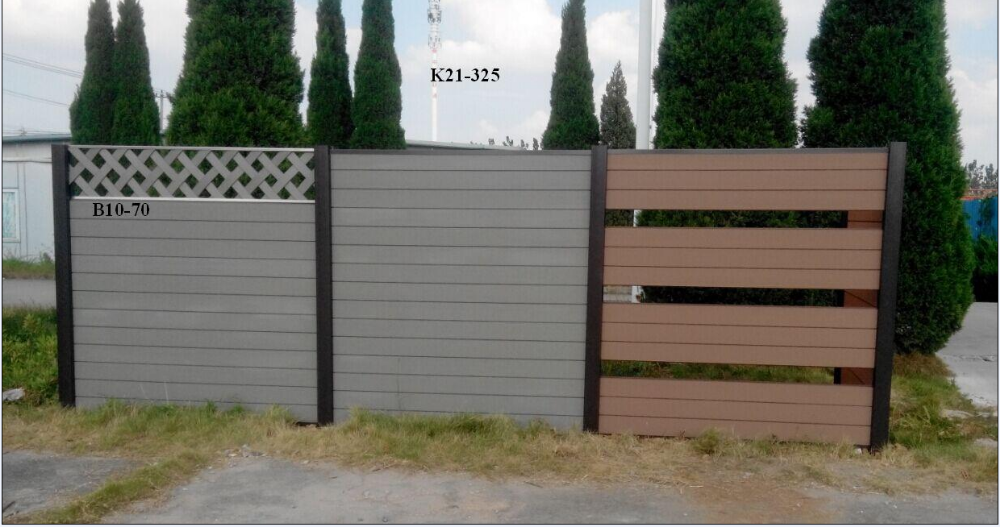 factory supplying popular wood plastic composite wpc decorative garden WPC fence panels