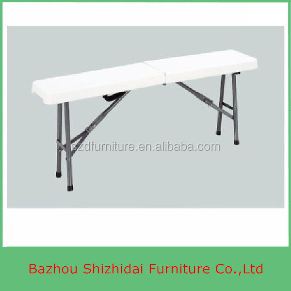 Plastic blow mold folding bench use for outdoor picnic and camping SD-ZD122