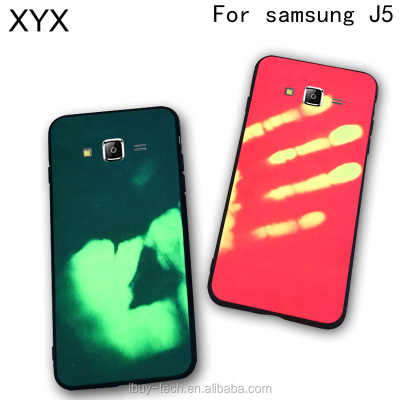 Heat Sensitive Thermal Changing Cellphone Case for samsung j5 j7 j5 prime j7 prime s8 s8 plus