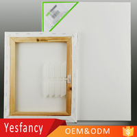 cheap price 100% cotton blank stretched canvas wooden frame set mini stretched canvas
