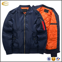 Ecoach latest design long sleeve waterproof windproof quilted winter custom ma1 wholesale mens bomber jacket