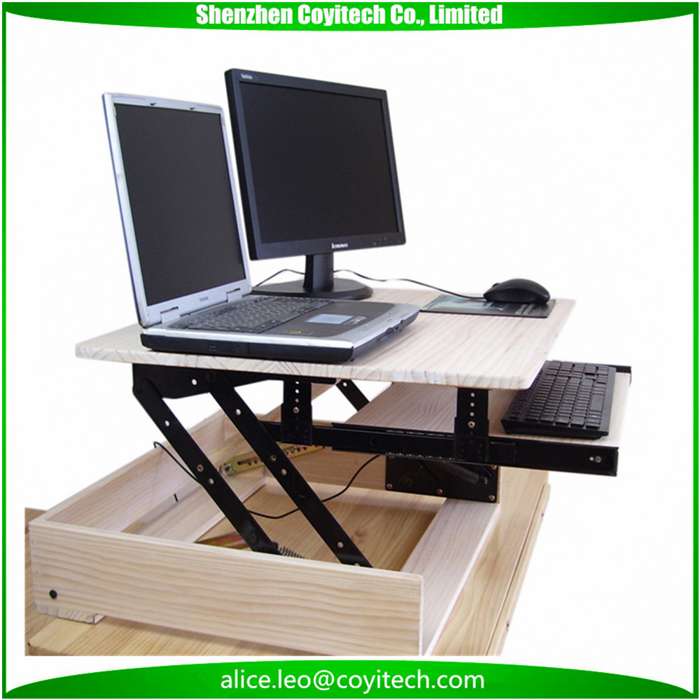 Computer PC monitor and laptop bracket standing desk extension table