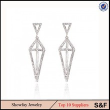 Fashion Lady Diamond Earring Thailand Jewelry Made In thailand Products