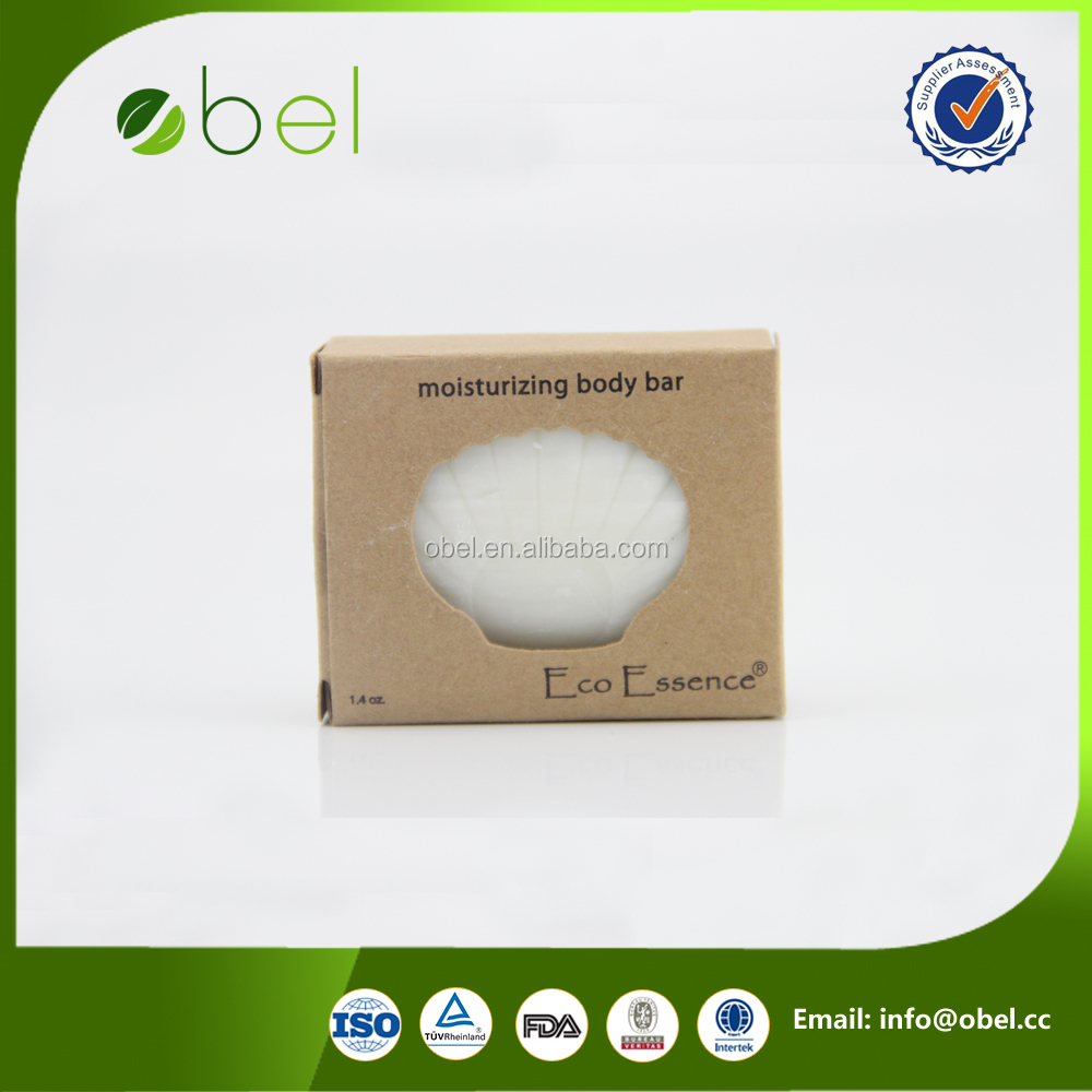 Shell type baby packing bar soap with cardboard box