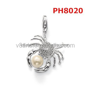 New Product spider charm necklace charm