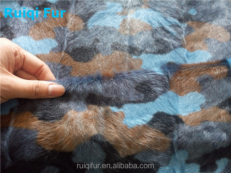 High quality factory price kid goat fur blanket real fur rug dyed fur fabric