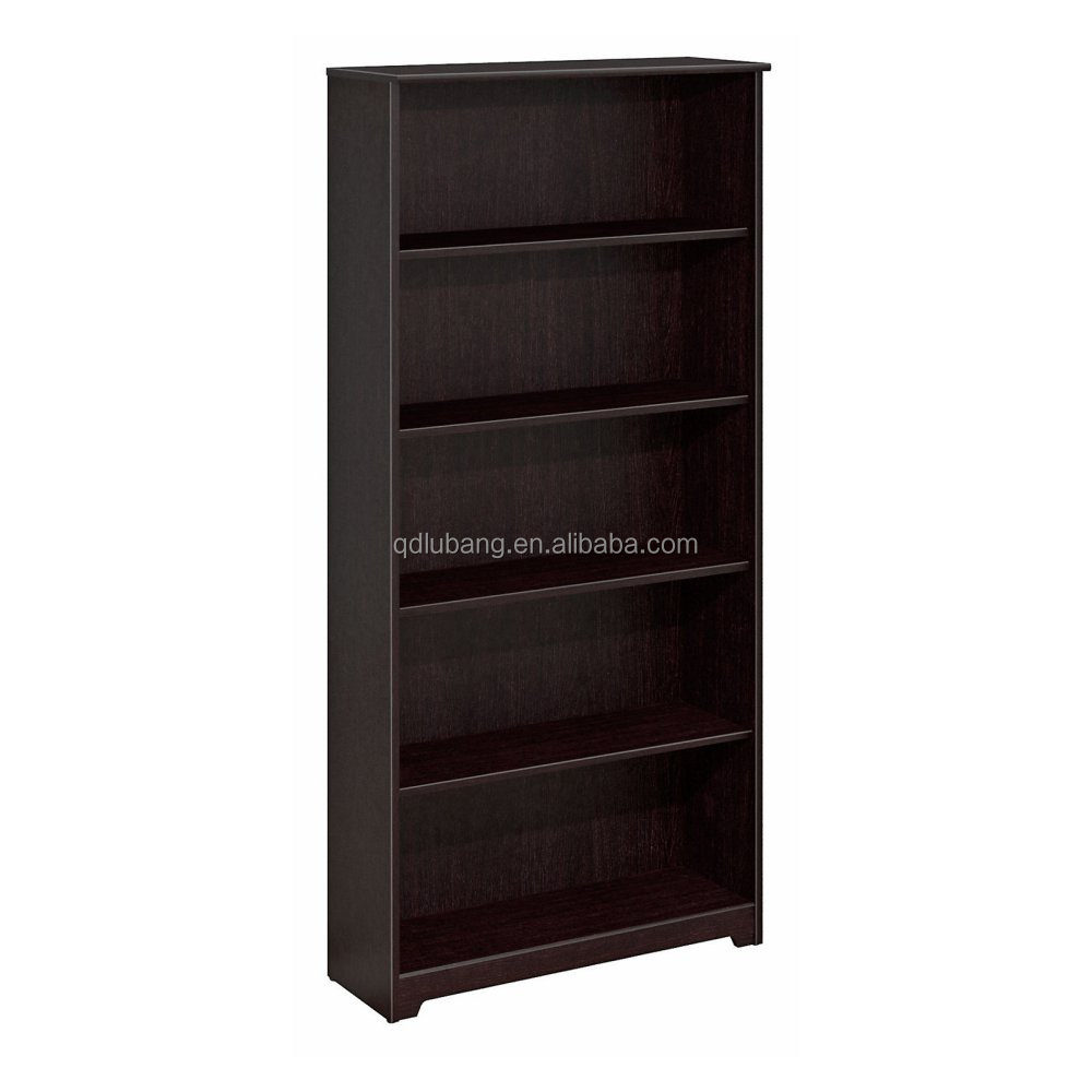 2017 popular high quality cheap classic wooden 5 Shelf bookcase