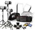 Godox 3X 250W Studio Flash Lighting Kit 750w Strobe Flash Light Portrait Fashion Advertisement Object Photography Set