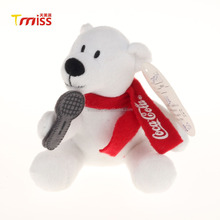 Customize red scarf cute plush animal polar bear soft toys